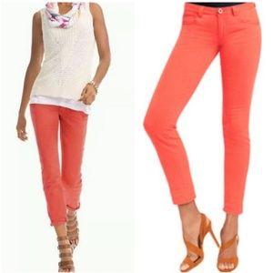 CAbi Pigment Lobster Coral Skinny Jeans